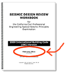 Page 1 of the Seismic Design Workbook